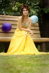 Girl in yellow - bench
